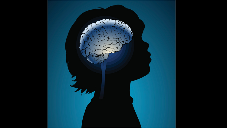 image of child with animated brain