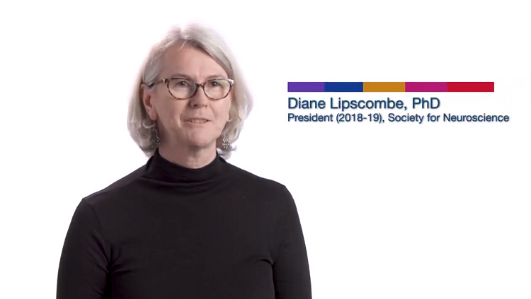 Video still of Diane Lipscombe in a black turtleneck
