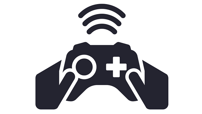 Icon of wireless video game controller.