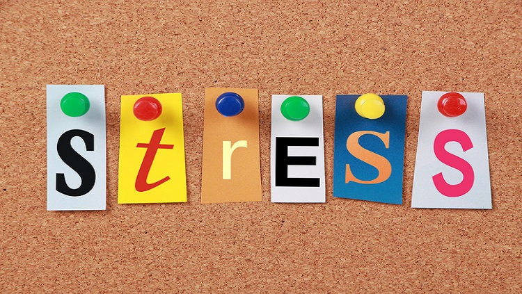 Image of the word stress