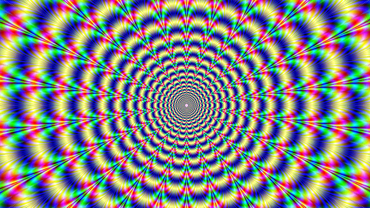 A trippy multi-colored image