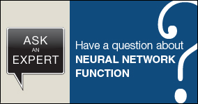 Ask an expert. Submit a question about neural network function.