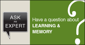 Ask an expert. Submit a question about learning and memory.