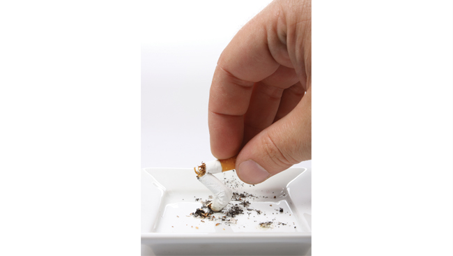 Image of cigarette being put out