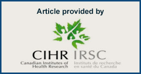 Article provided by CIHR