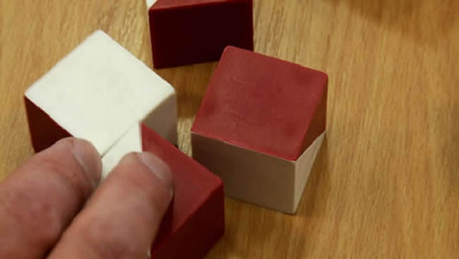 Coloured blocks used during an ADHD assessment.