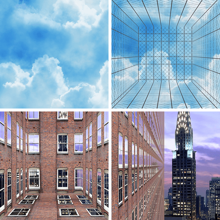 pictures of clouds windows and buildings