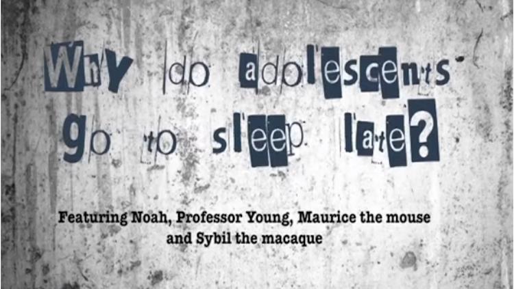 why do adolescents go to sleep late?