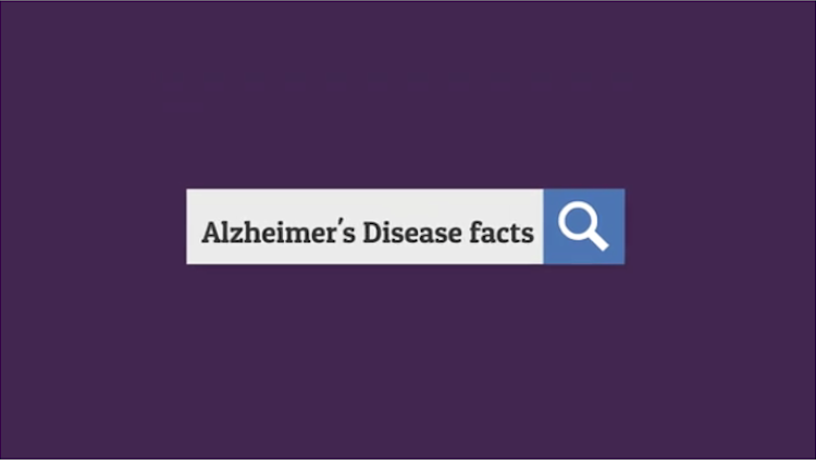 alzheimers disease facts typed into a search bar