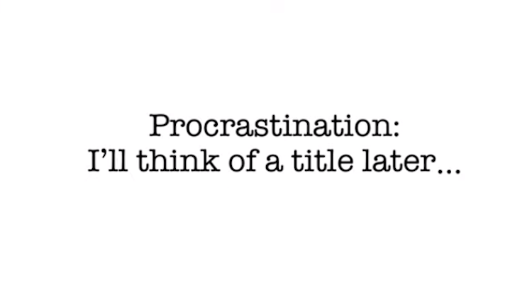 text procrastination: i'll think of a title later
