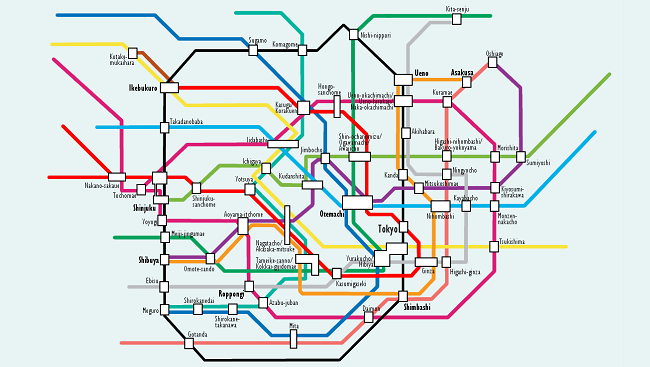 Subway Map Of The Brain.Mapping The Way Forward For Brain Research