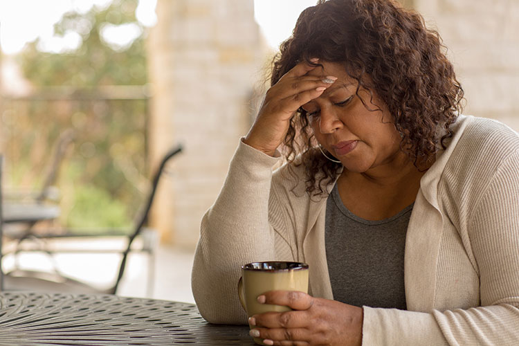 Black Woman distressed
