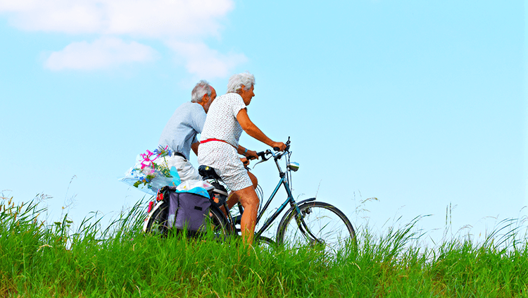 older adults bike riding