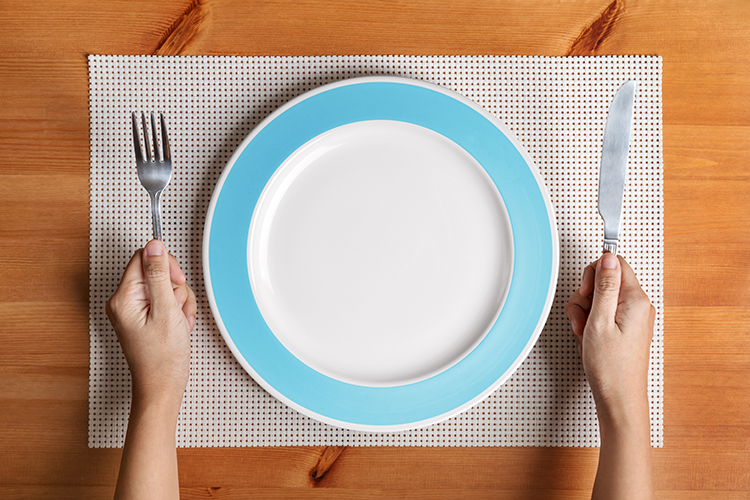 Image of an empty dinner plate