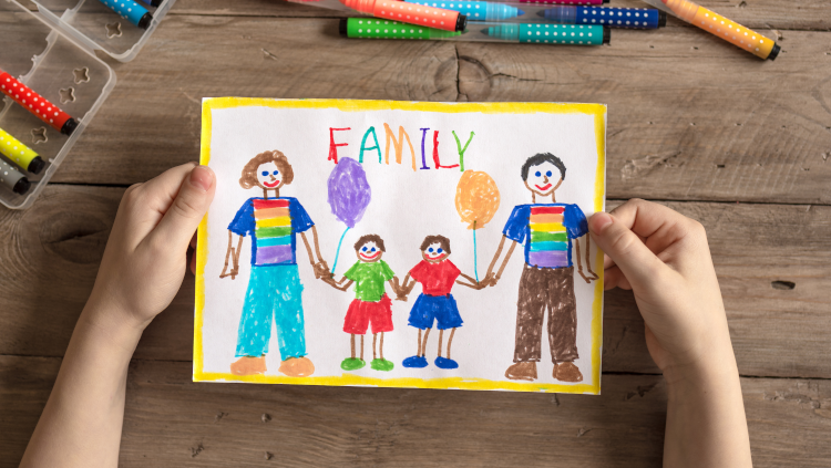 child's drawing of a family