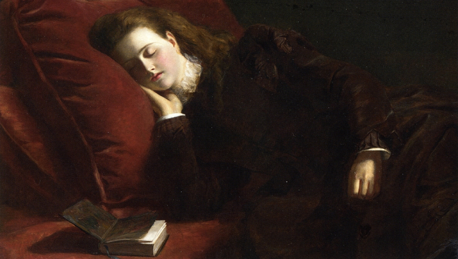 "Painting by William Powell Frith, ""Sleep"" - 1873."