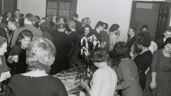 Revellers at a holiday party