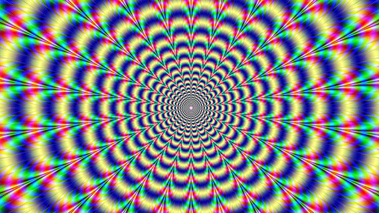 A trippy multi-colored image