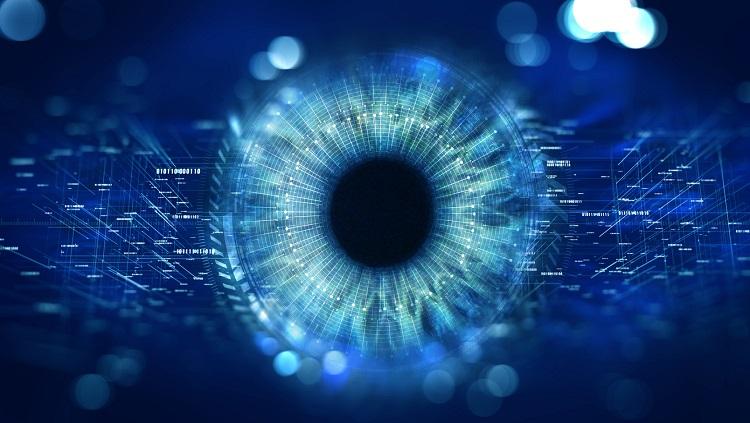 Image of an eyeball with graphics