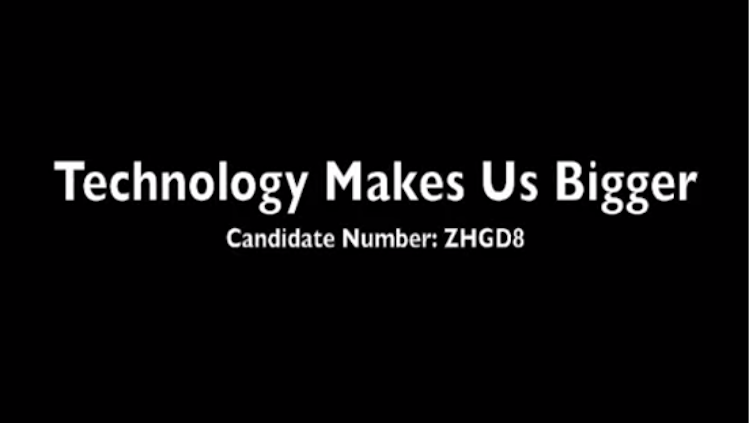 text technology makes us bigger candidate number zhgd8